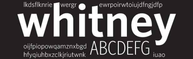 whitney is the new helvetica
