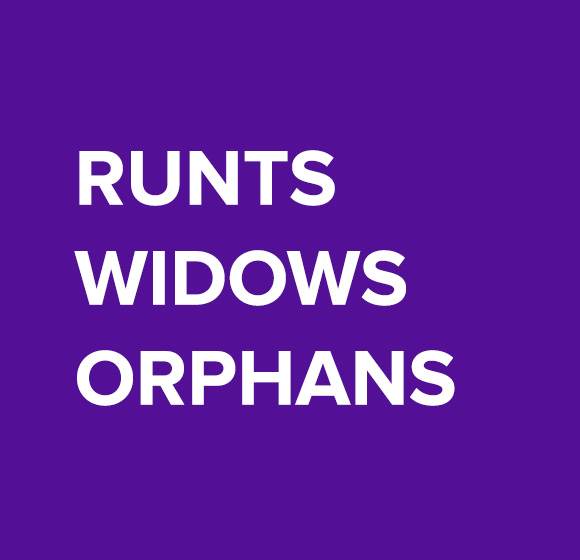 Examples of widows and orphans in text