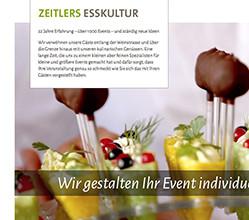 Zeitlers Esskultur Website Design
