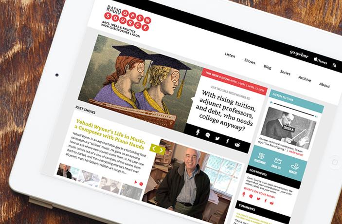 Radio Open Source website design