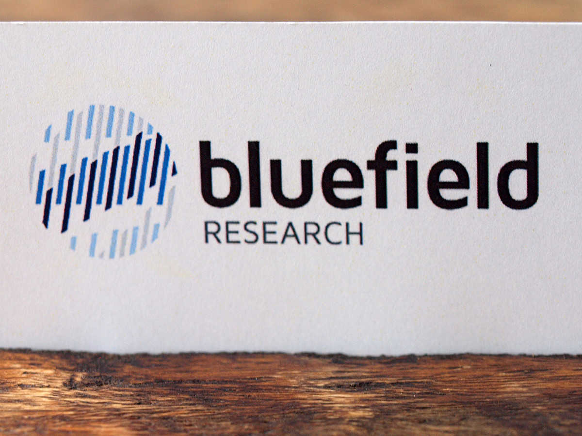 Bluefield Research logo opus design