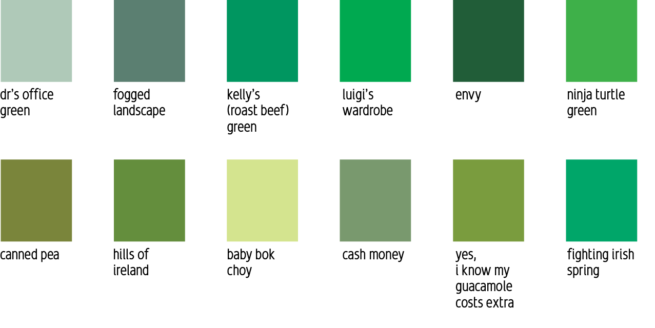 Names of green colors 28 images blue green color names for Colors shades of green