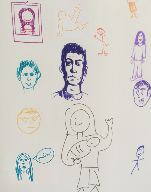 self portraits of the guests