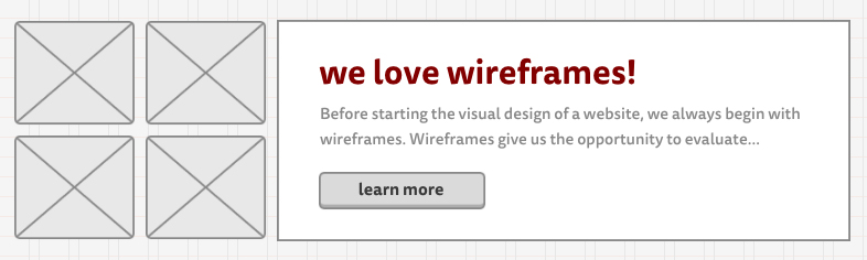 wireframe website design