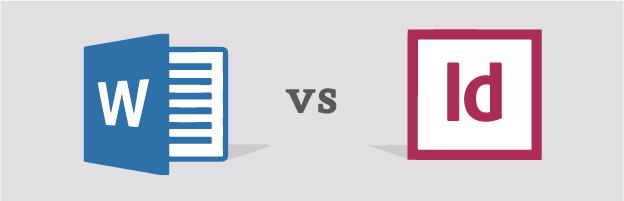 word versus indesign comparison graphic