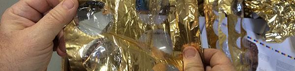 used foil after foil stamping