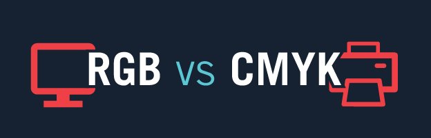 RGB versus CMYK comparison graphic