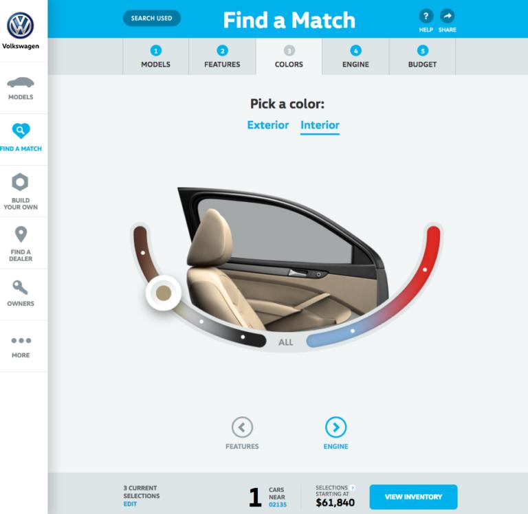Volkswagen Find a Match