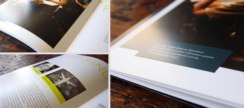 close-up of coated magazine