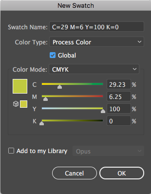 Global Colors in Illustrator