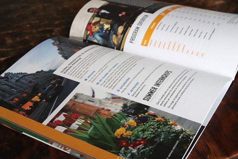 magazine feel brochure