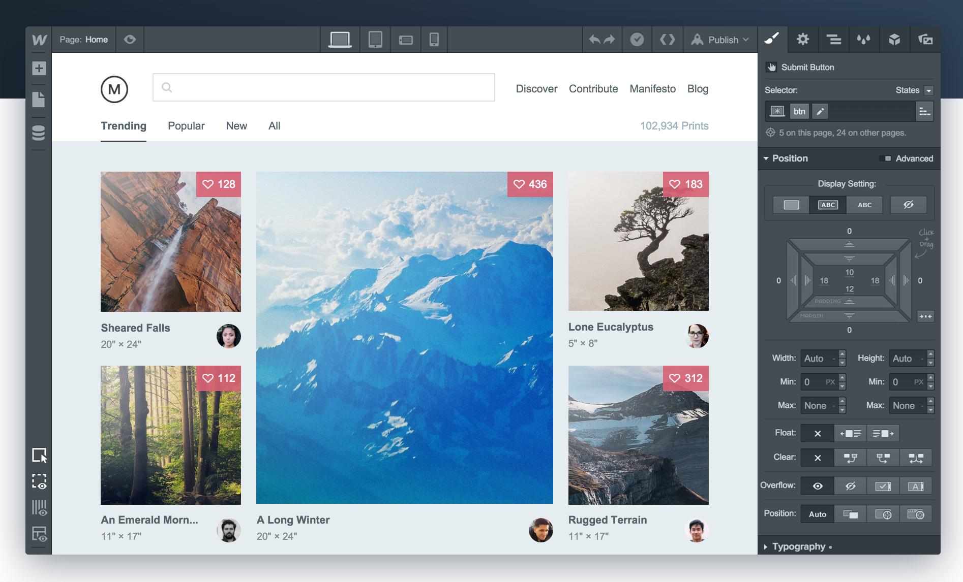 Webflow Design Admin