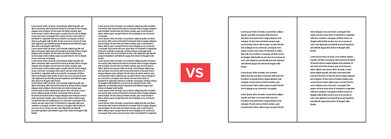 Whitespace in text layouts