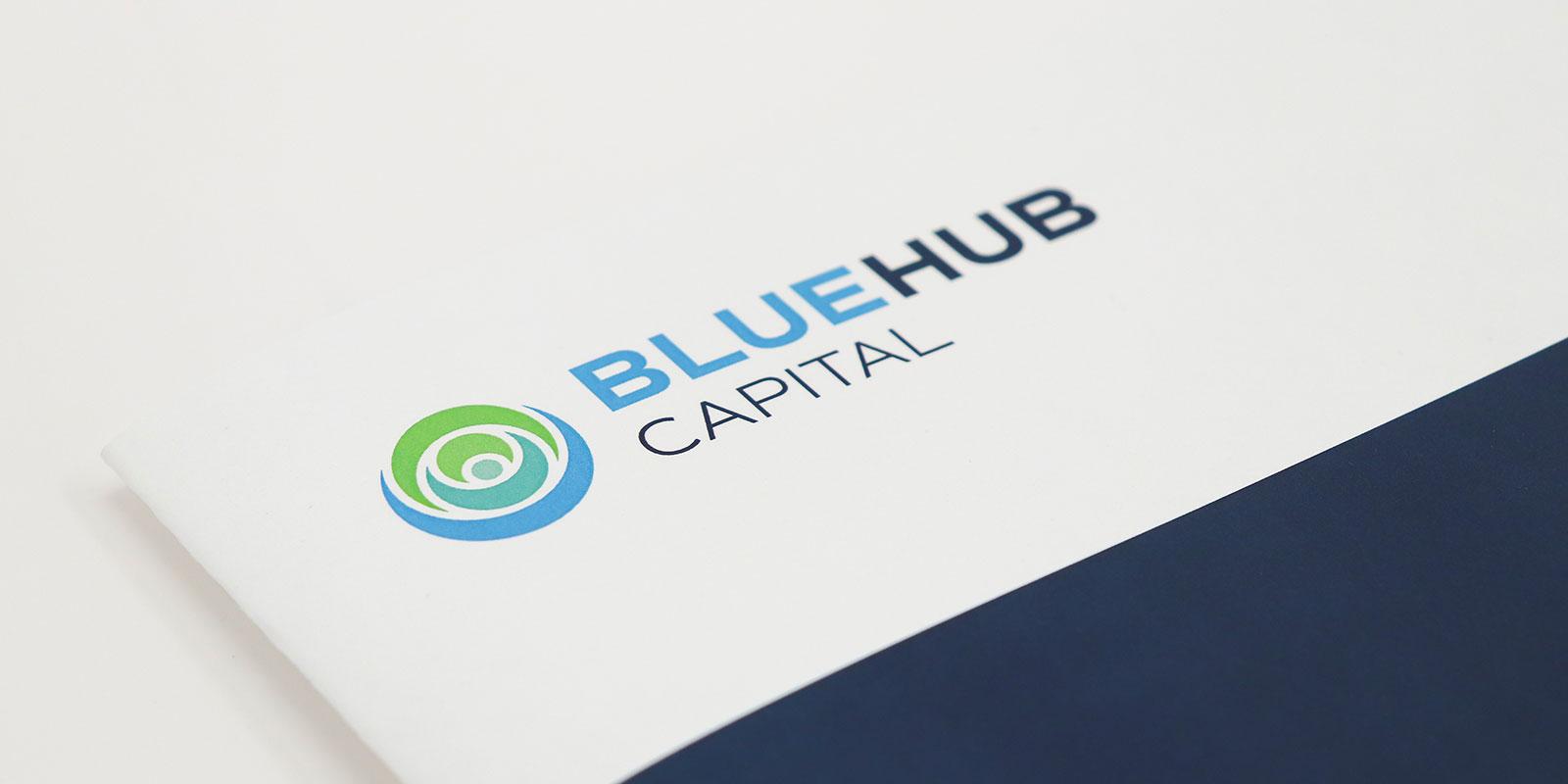 BlueHub logo design