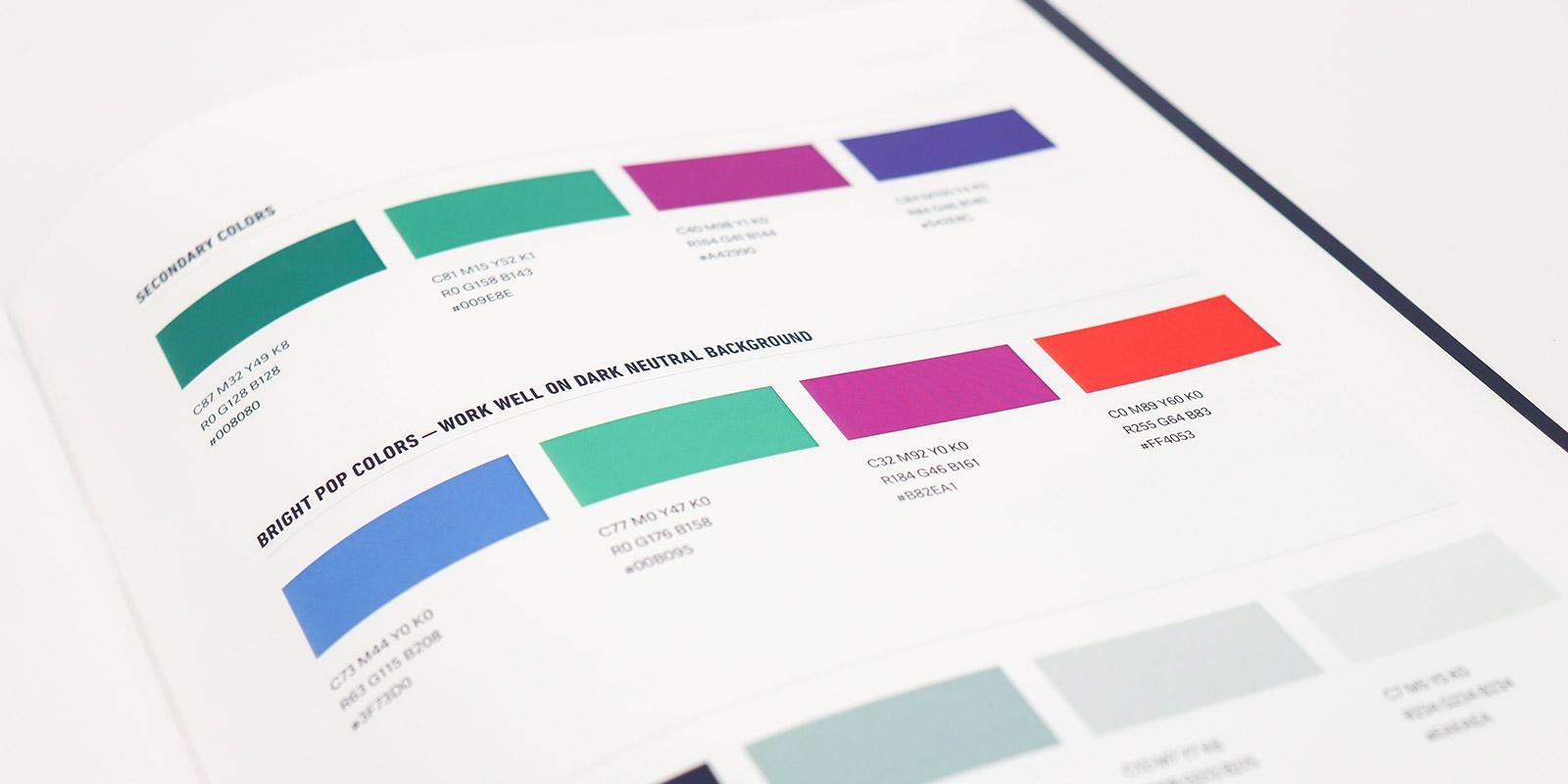 Joe Andruzzi Foundation color palette