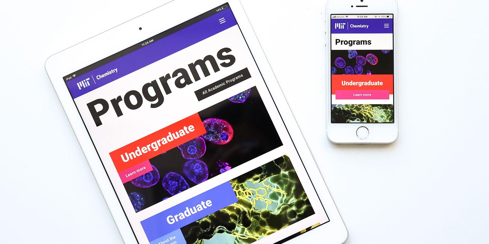 MIT Chemistry accessible website design