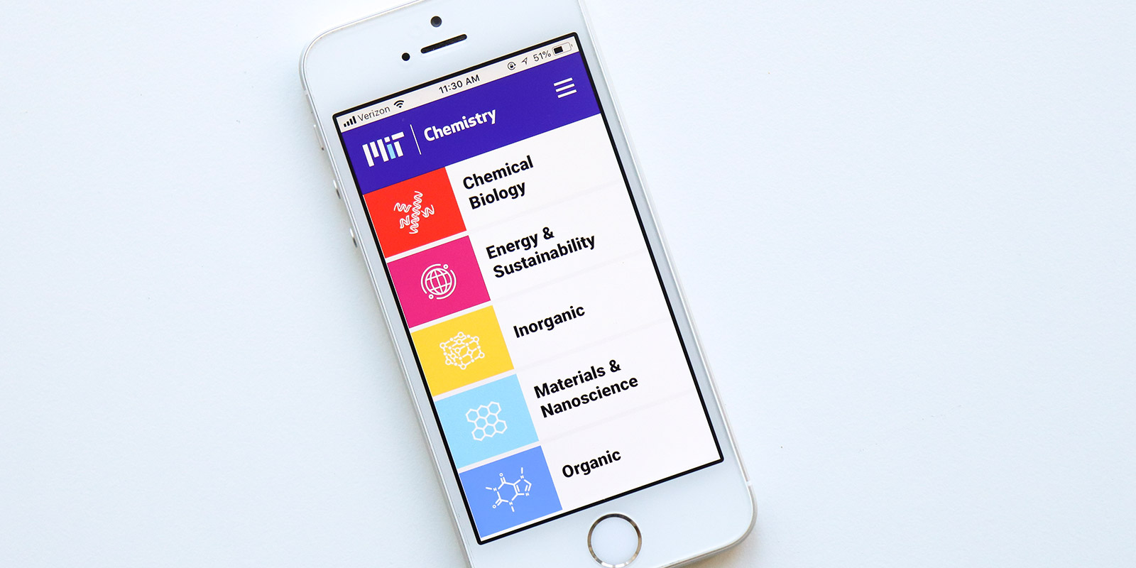 MIT Chemistry accessible website design