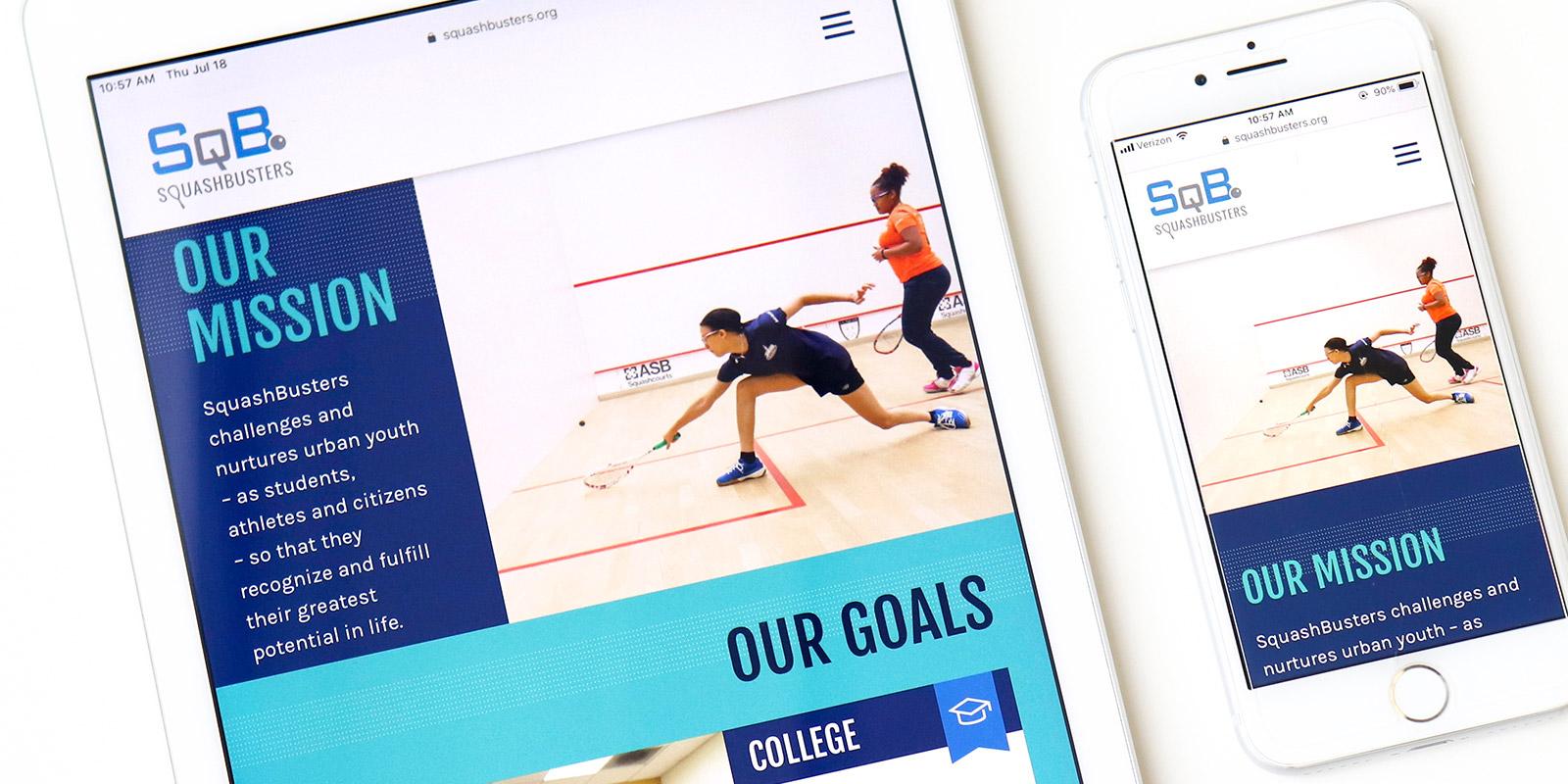 Squashbusters website design