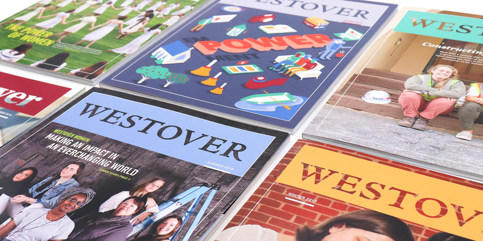 Westover School magazine design