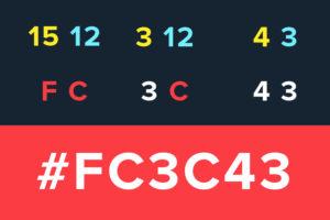 Opus Red code FC3C43