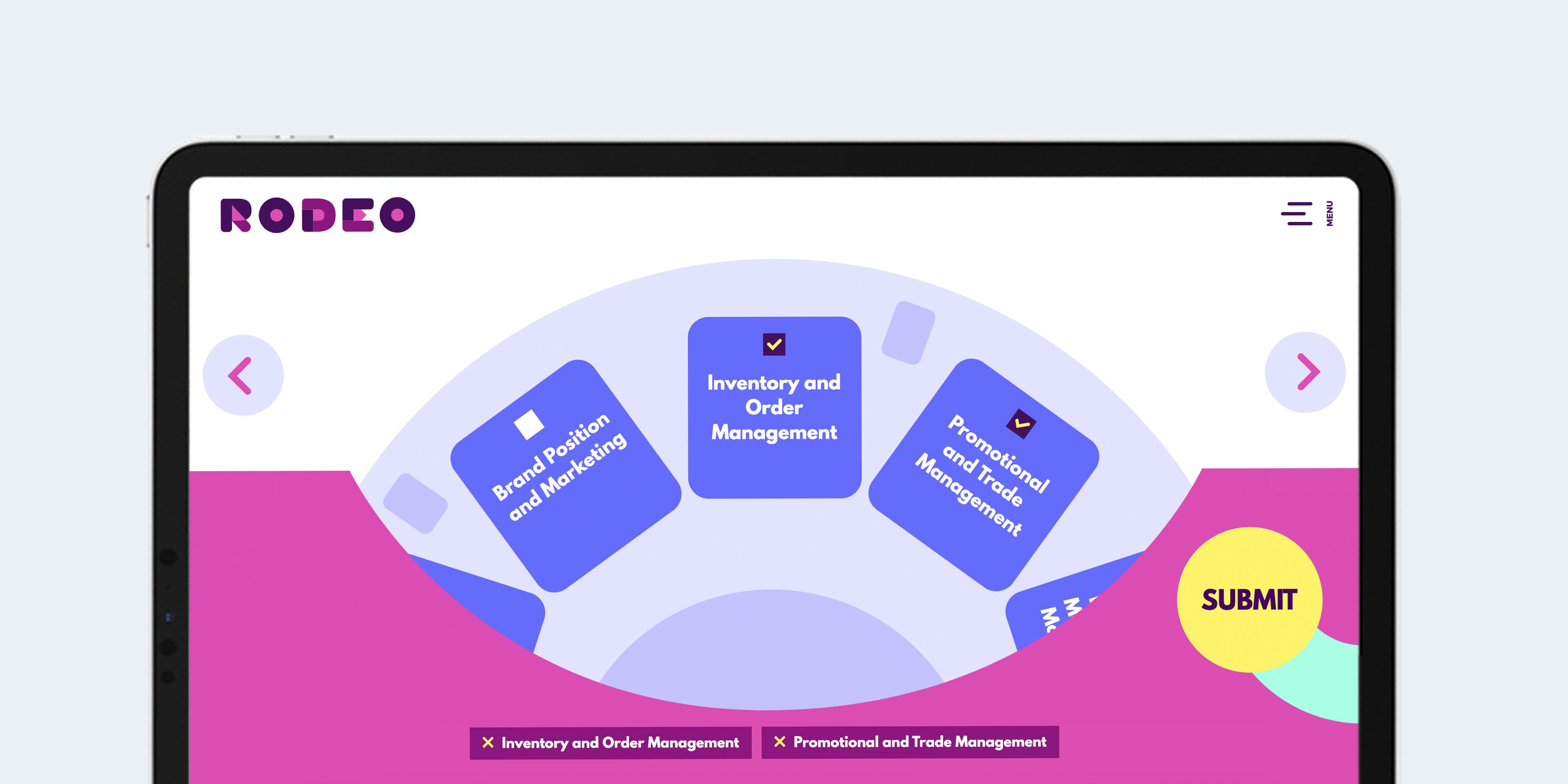 Rodeo CPG website design