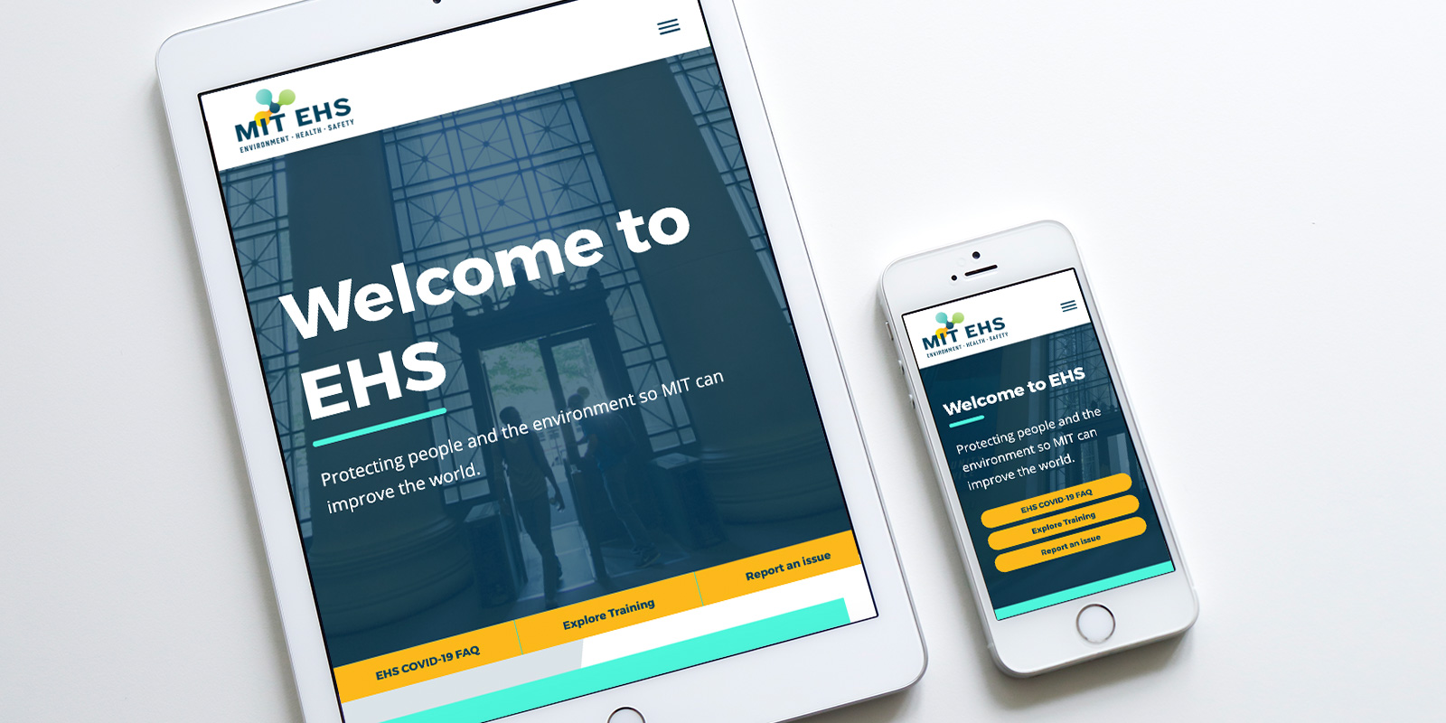 MIT EHS research and teaching website design
