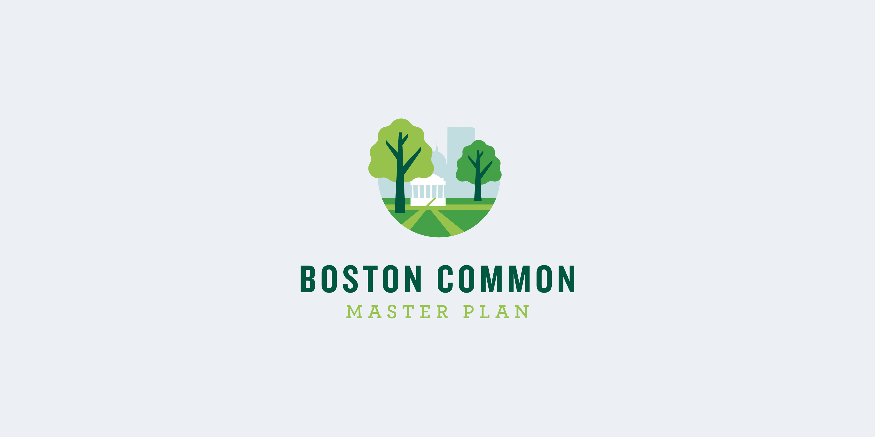 Boston Common Mater Plan Logo design