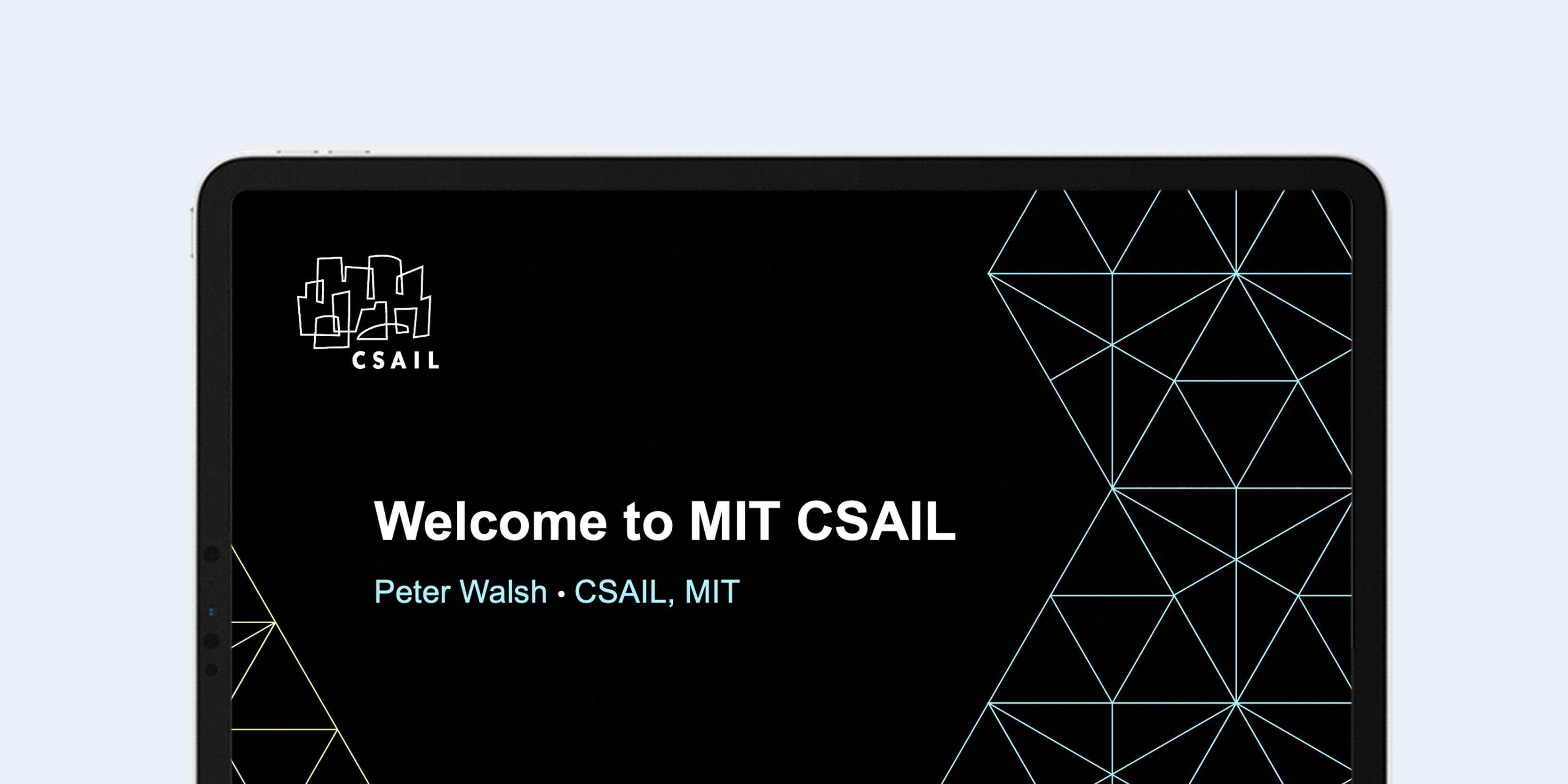 MIT CSAIL presentation design