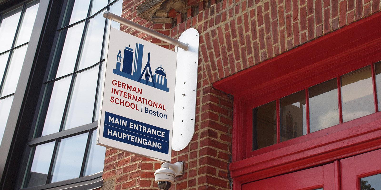 German International School Boston logo design