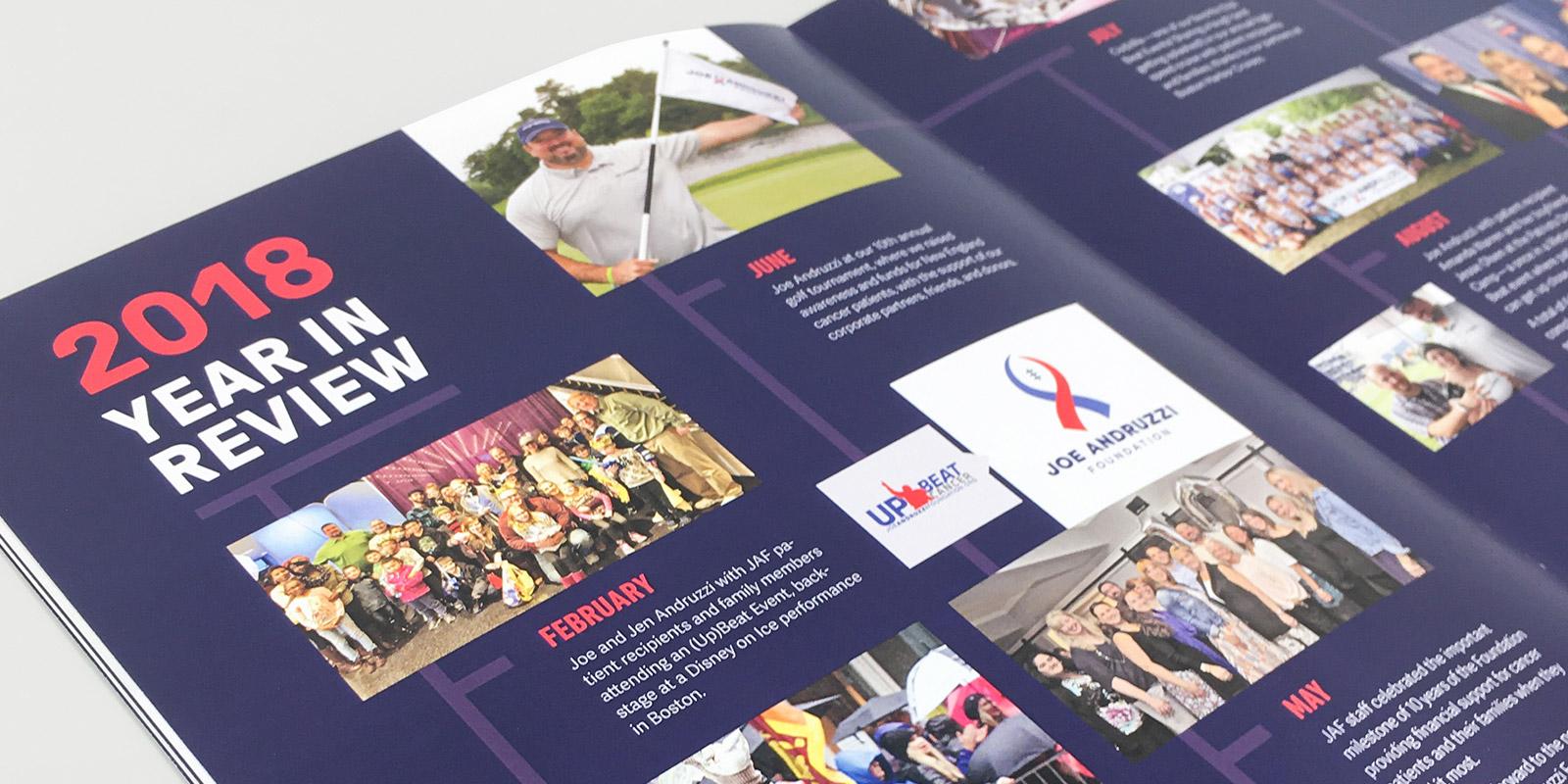 Joe Andruzzi Foundation Annual Report Design