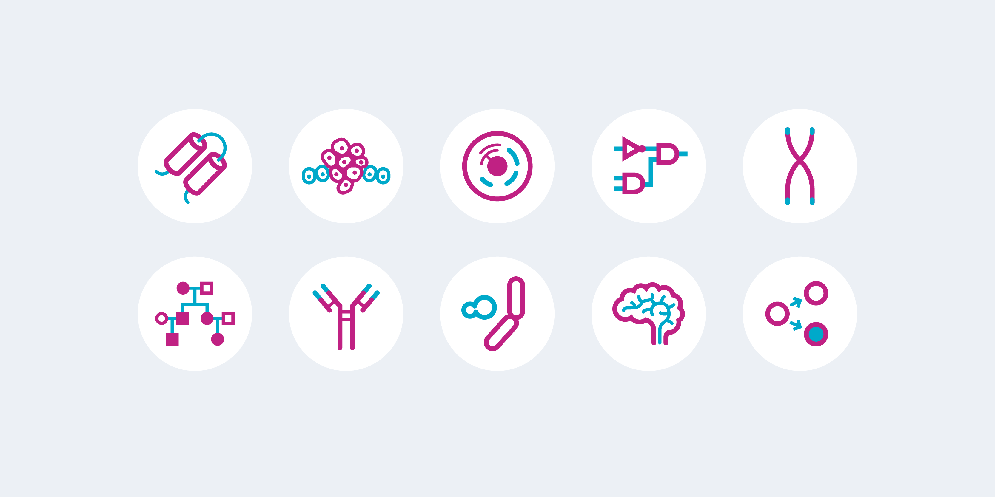 Biology research icons