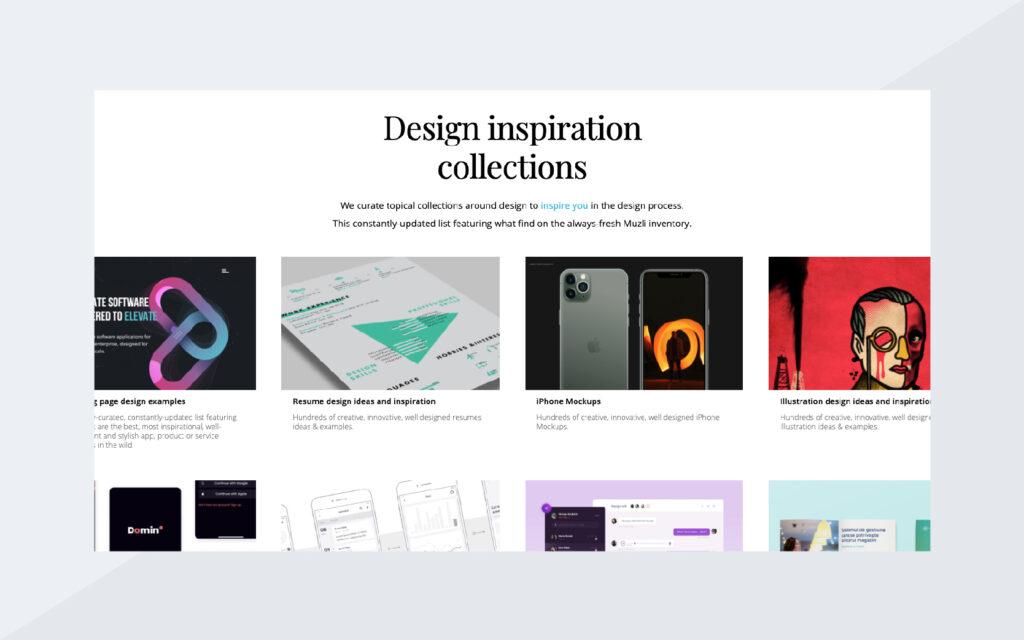 Design Inspiration Collections Screenshot