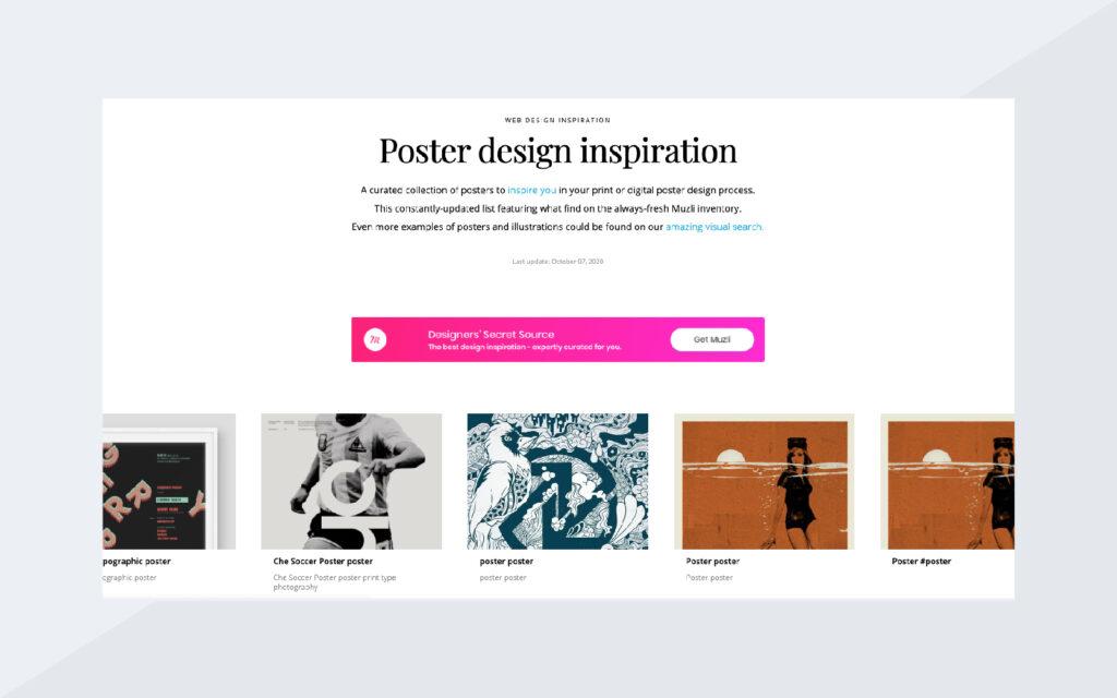 Poster Design Inspiration Screenshot