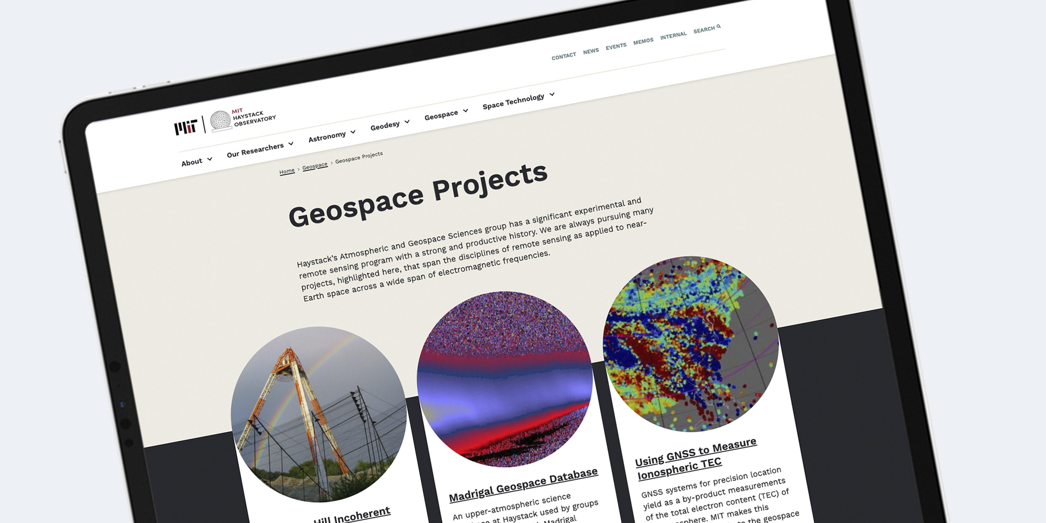Website Design MIT Haystack