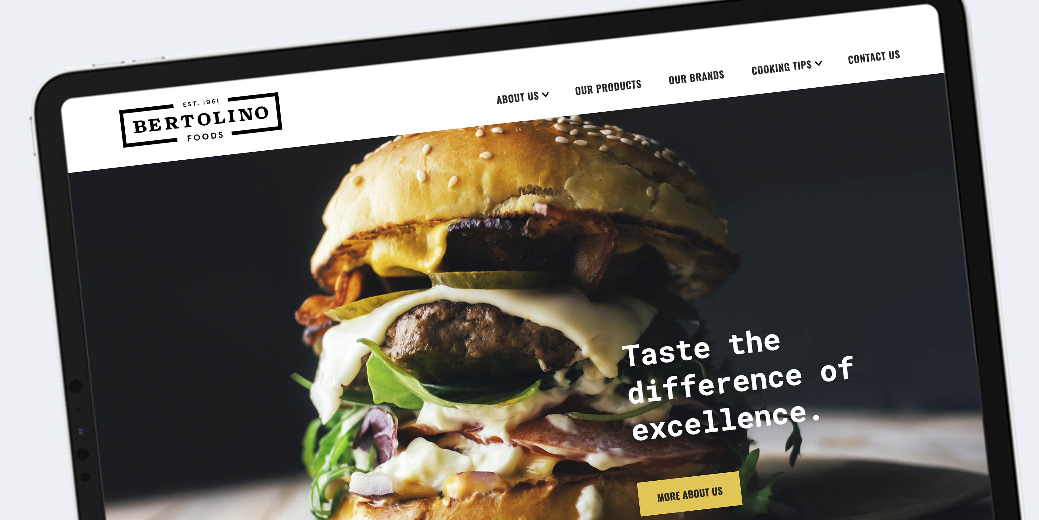 Bertolino Foods website design - meat manufacturer and distributor