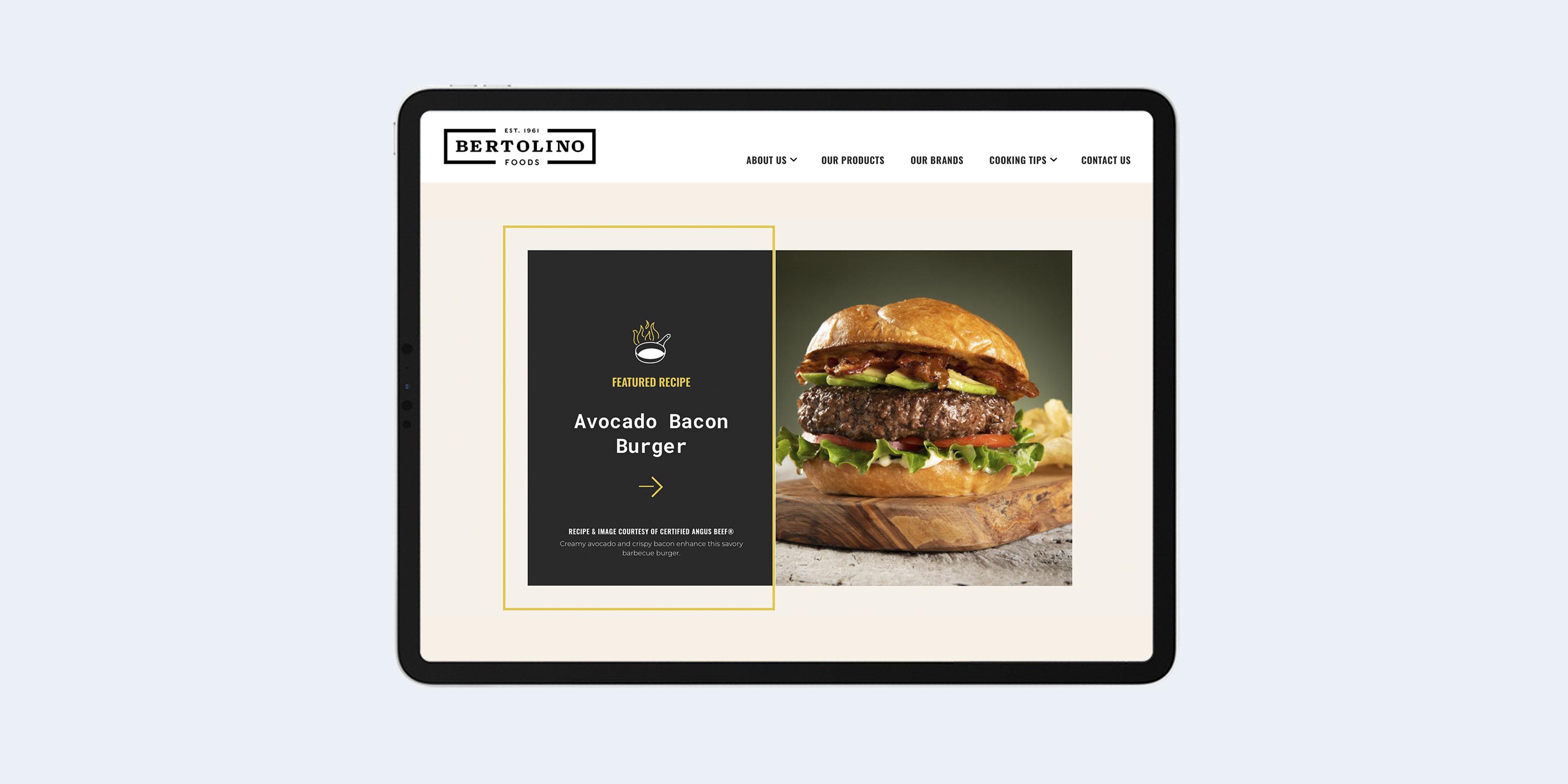 Bertolino Foods recipe page