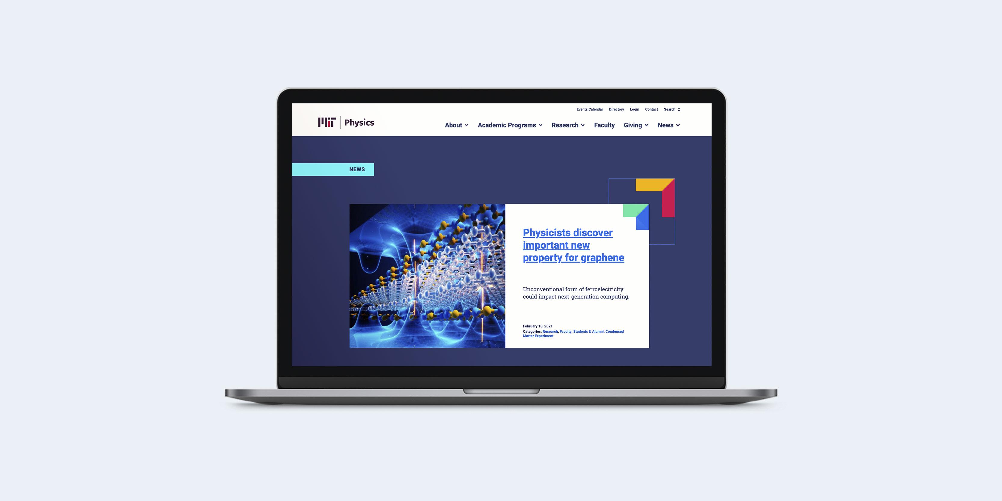 MIT Physics website design