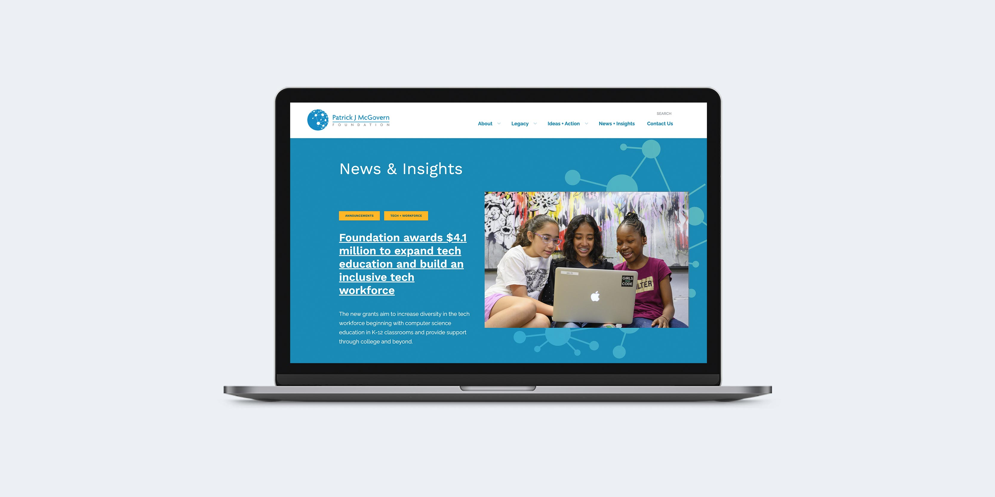 McGovern Foundation website design